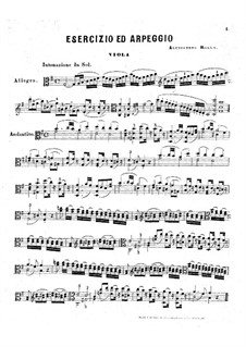 Esercizio ed Arpeggio for Viola, BI 314: Esercizio ed Arpeggio for Viola by Alessandro Rolla
