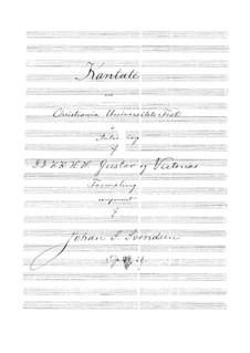 Hochzeitskantate, Op.29: Hochzeitskantate by Johan Svendsen
