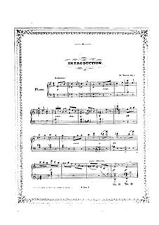 Introduktion und Tarantella, Op.2: Introduktion und Tarantella by Carl Tausig