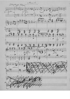 Sonate für Violine und Klavier Nr.1 in F-Dur, Op.8: Teil II. Version für Klavier, vierhändig by Edvard Grieg