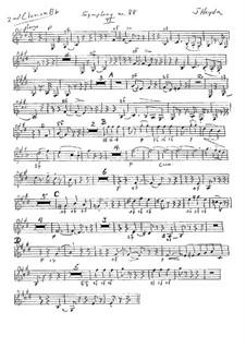Sinfonie Nr.88 in G-Dur, Hob.I/88: Klarinettenstimme II (ad libitum) by Joseph Haydn