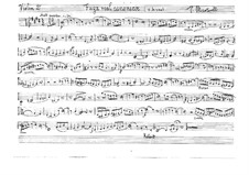 Fuga real canónica für Streichquartett: Violine II, Bratsche- und Cellostimmen by Vicente Martorell