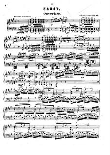 Faust. Ouvertüre, Op.80: Faust. Ouvertüre by Peter Josef von Lindpainter
