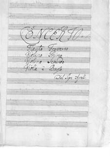 Konzert für Flöte, Streicher und Basso Continuo in D-Dur: Konzert für Flöte, Streicher und Basso Continuo in D-Dur by Johan Agrell