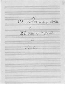 Vier Sonaten für Flöte und Basso Continuo: Vier Sonaten für Flöte und Basso Continuo by Franz Benda