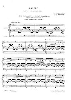 Weihnachtsoratorium, Op.12: Prière, für Orgel by Camille Saint-Saëns