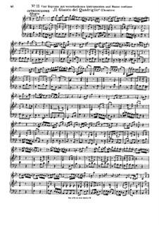 Il giuoco del quadriglio: Il giuoco del quadriglio by Antonio Caldara