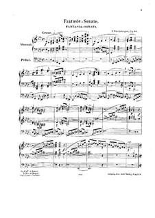 Fantaisie-Sonate für Orgel Nr.2, Op.65: Fantaisie-Sonate für Orgel Nr.2 by Josef Gabriel Rheinberger