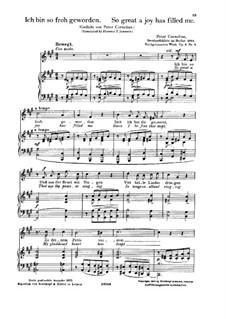 Liebeslieder, Op.4: Nr.5 Ich bin so froh geworden by Peter Cornelius