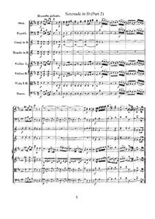 Serenade für Orchester Nr.7 in D-Dur 'Haffner', K.250: Teil II by Wolfgang Amadeus Mozart