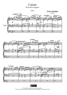 Cantata in e flat major for organ, CS111: Cantata in e flat major for organ by Santino Cara