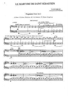 Das Martyrium des Heiligen Sebastian, L.124: Fragmente, für Klavier, vierhändig by Claude Debussy