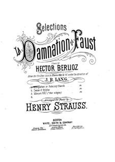 Fausts Verdammung, H.111 Op.24: Ungarischer Marsch, für Klavier by Hector Berlioz