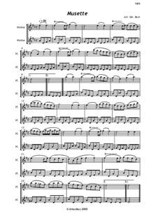 Nr.22 Musette in D-dur, BWV Anh.126: Für zwei Violinen by Johann Sebastian Bach