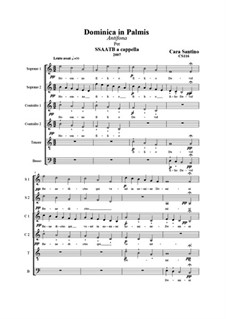 Dominica in palmis, antiphon for SSAATB a cappella, CS116: Dominica in palmis, antiphon for SSAATB a cappella by Santino Cara
