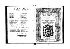 Concentus ecclesiastici: Bassus part by Franscesco Foggia