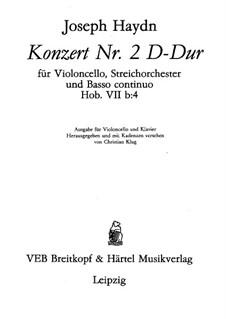 Konzert für Cello und Orchester Nr.4 in D-Dur, Hob.VIIb/4: Solostimme by Joseph Haydn