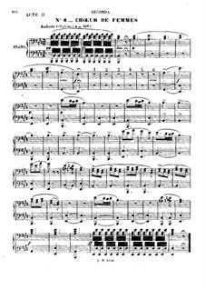 Zampa, ou La fiancée de marbre: Akt II, Nr.6-9, für Klavier, vierhändig by Ferdinand Herold