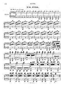 Zampa, ou La fiancée de marbre: Akt II, Nr.10, für Klavier, vierhändig by Ferdinand Herold