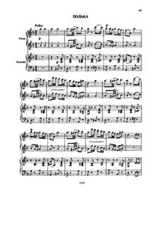 Polka für Klavier, vierhändig: Partitur by Alexander Porfiryevich Borodin