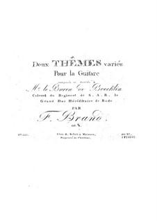 Zwei Themen und Variationen, Op.8: Für Gitarre by Friedrich Brand