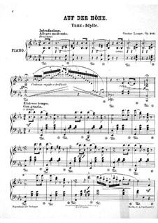 Auf der Höhe. Tanz-Idille, Op.281: Für einen Interpreten by Gustav Lange