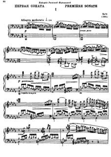 Sonate für Klavier Nr.1 in b-Moll, Op.74: Teil I by Alexander Glazunov