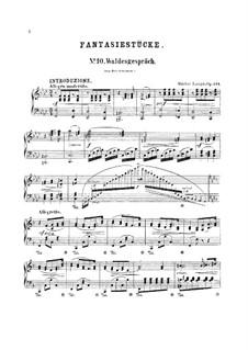 Fantasiestücke nach Liedern von R. Shumann, Op.124: Nr.10 Waldesgespräch by Gustav Lange