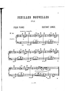 Pure as Snow (Edelweiss), Op.31: Für Klavier by Gustav Lange