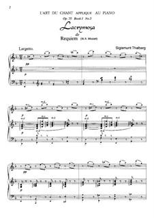 Lacrimosa: Für Klavier by Wolfgang Amadeus Mozart