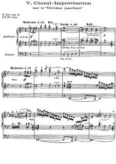 Choral-Improvisation über 'Victimae paschali': Choral-Improvisation über 'Victimae paschali' by Charles Tournemire