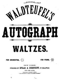 Autograph. Walzer: Autograph. Walzer by Emil Waldteufel