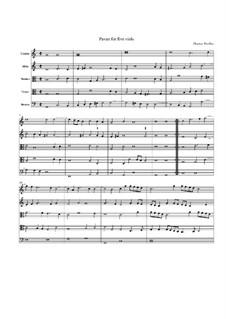 Pavane für fünf Bratschen: Pavane für fünf Bratschen by Thomas Weelkes