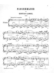 Fischerlied, Op.43: Für einen Interpreten by Gustav Lange