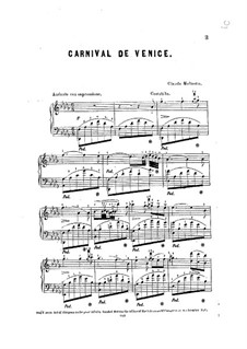 Carnival de Venice: Für Klavier by Claude Melnotte