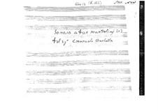 Sonate für zwei Mandolinen in C-Dur: Partitur by Emanuele Barbella