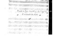 Sonate für zwei Mandolinen (G-Dur): Sonate für zwei Mandolinen (G-Dur) by Emanuele Barbella