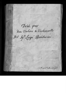 Streichtrios, Op.1: Trio Nr.6, G.82 by Luigi Boccherini