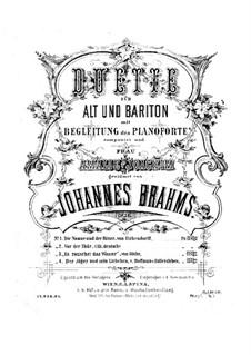 Duos für Stimmen und Klavier, Op.28: Duos für Stimmen und Klavier by Johannes Brahms