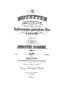 Zwei Motetten, Op.29: Vollsammlung by Johannes Brahms