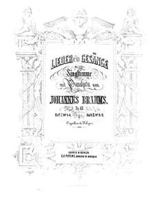 Lieder und Gesänge, Op.63: Vollsammlung by Johannes Brahms