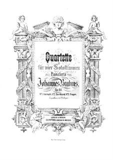 Quartette für Stimmen und Klavier, Op.64: Quartette für Stimmen und Klavier by Johannes Brahms