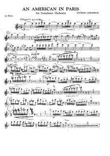 Ein Amerikaner in Paris: Flötenstimme I by George Gershwin