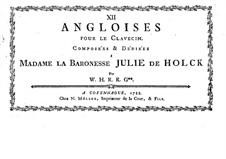 Douze angloises for Harpsichord: Douze angloises for Harpsichord by Werner Hans Giedde