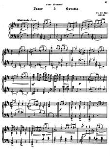 Drei Klavierstücke, Op.49: Nr.3 Gavotte by Alexander Glazunov