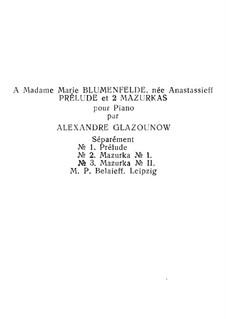 Drei Stücke, Op.25: Drei Stücke by Alexander Glazunov