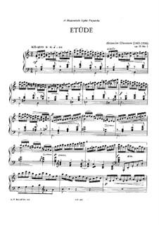 Drei Etüden, Op.31: Etüde Nr.1 by Alexander Glazunov