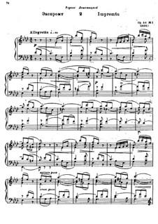 Zwei Impromptus für Klavier, Op.54: Impromptu Nr.2 by Alexander Glazunov