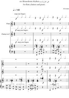 On almurdoom rhythm (for Clarinet, Flute and Piano): On almurdoom rhythm (for Clarinet, Flute and Piano) by Ali Osman