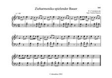 Nr.12 Zieharmonika spielender Bauer: Für Akkordeon (oder Knopfakkordeon) by Pjotr Tschaikowski